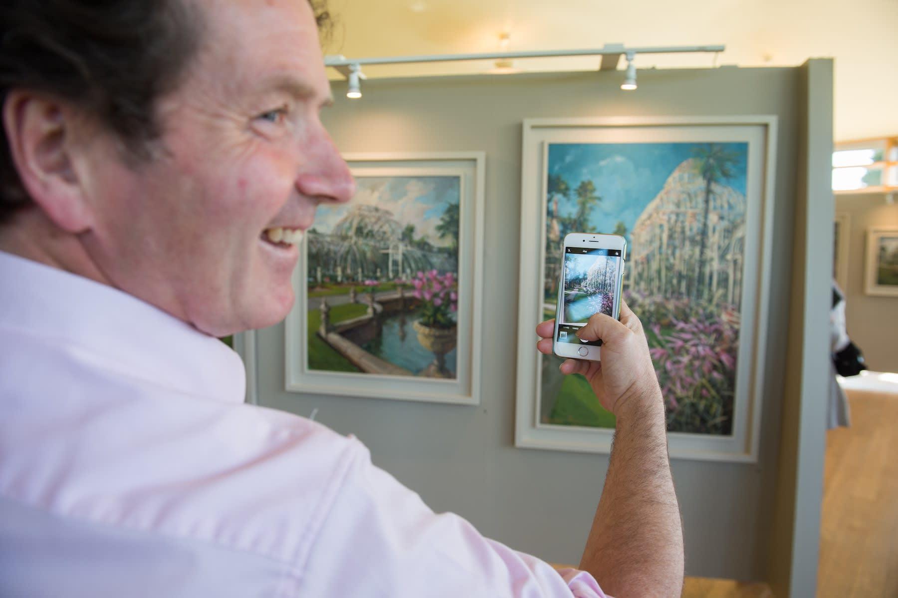 21 JUNE 2018 NATIONAL BOTANIC GARDENS OF IRELAND, DUBLIN Diarmuid Gavin launching Inside Outside & Beyond exhibition photo: Barry Cronin