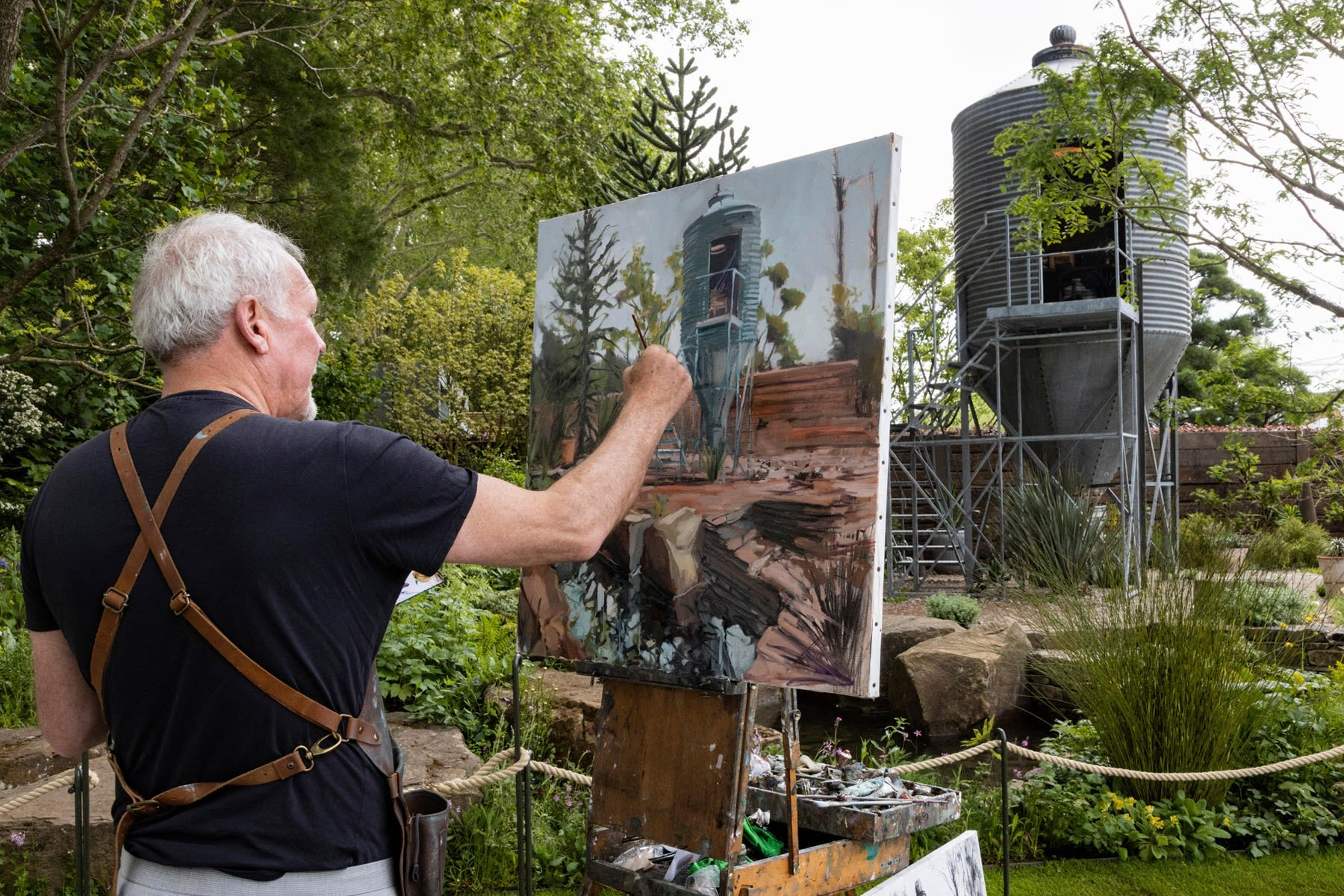 19 MAY 2019 CHELSEA FLOWER SHOW, LONDON The Resilience Garden, Designer: Sarah Eberle The Resilience Garden photo: Bettina Strenske / Alamy Photos