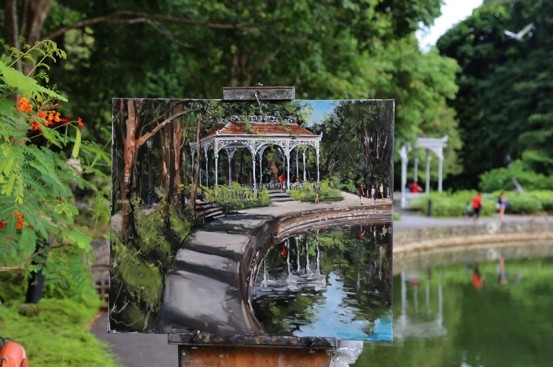 02 SEPTEMBER 2019 SWAN LAKE, SINGAPORE BOTANIC GARDENS The Swan Lake Gazebo photo: Agata Byrne
