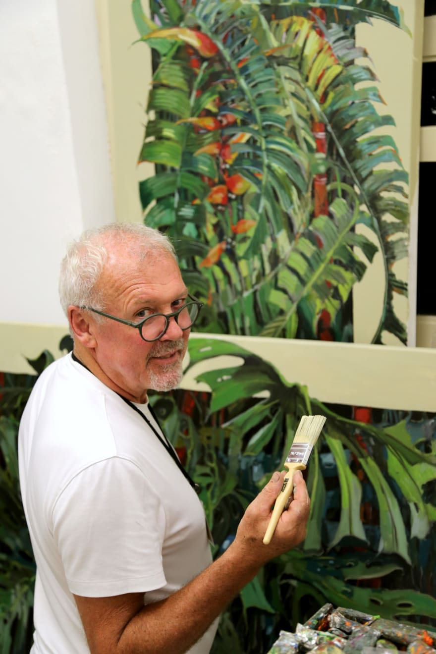 04 SEPTEMBER 2019 SINGAPORE BOTANIC GARDENS Eve of the Botanical Fusion exhibition Finishing touches photo: Agata Byrne