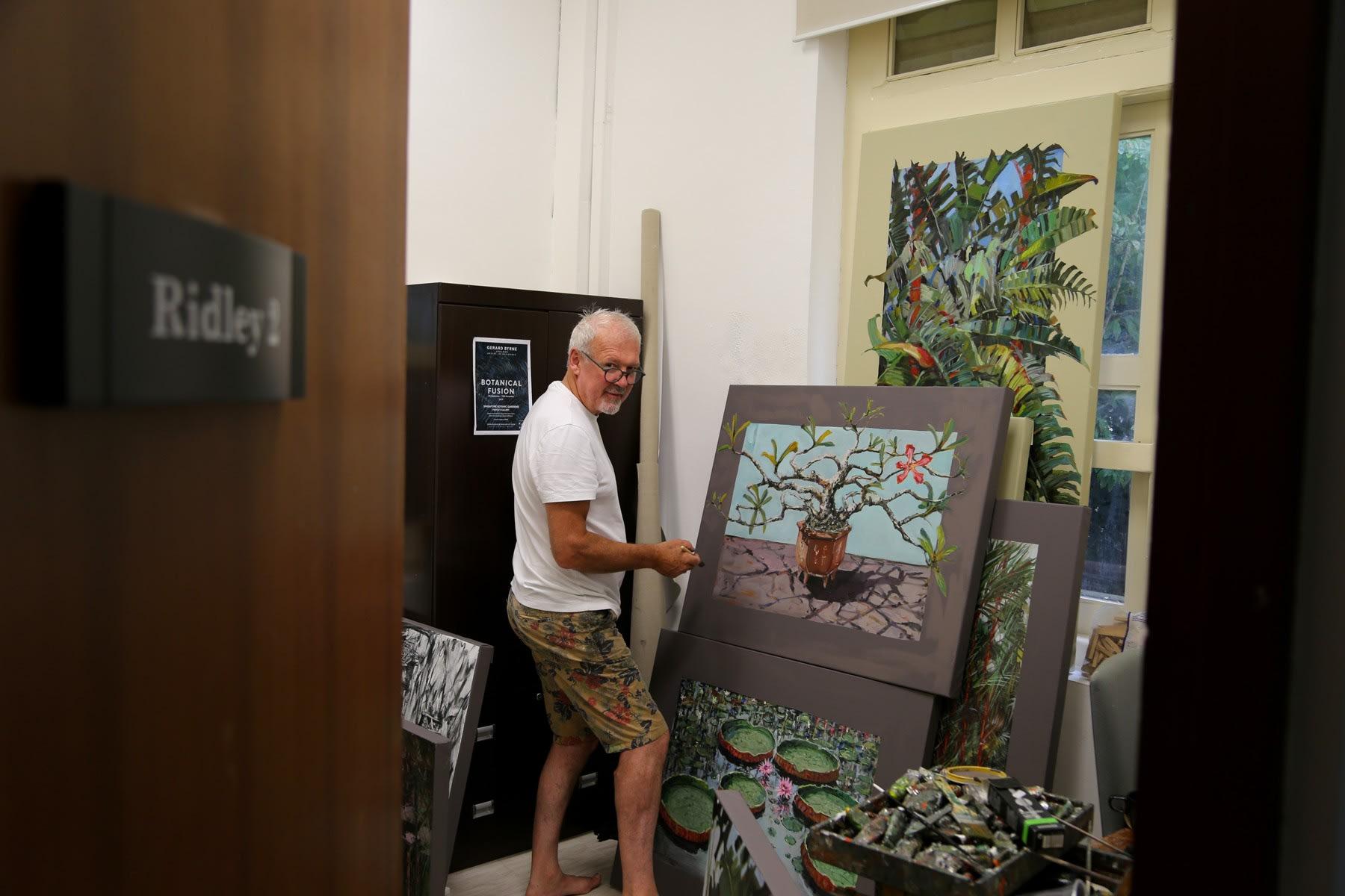 04 SEPTEMBER 2019 SINGAPORE BOTANIC GARDENS Eve of the Botanical Fusion exhibition Finishing touches photo: Agata Byrne