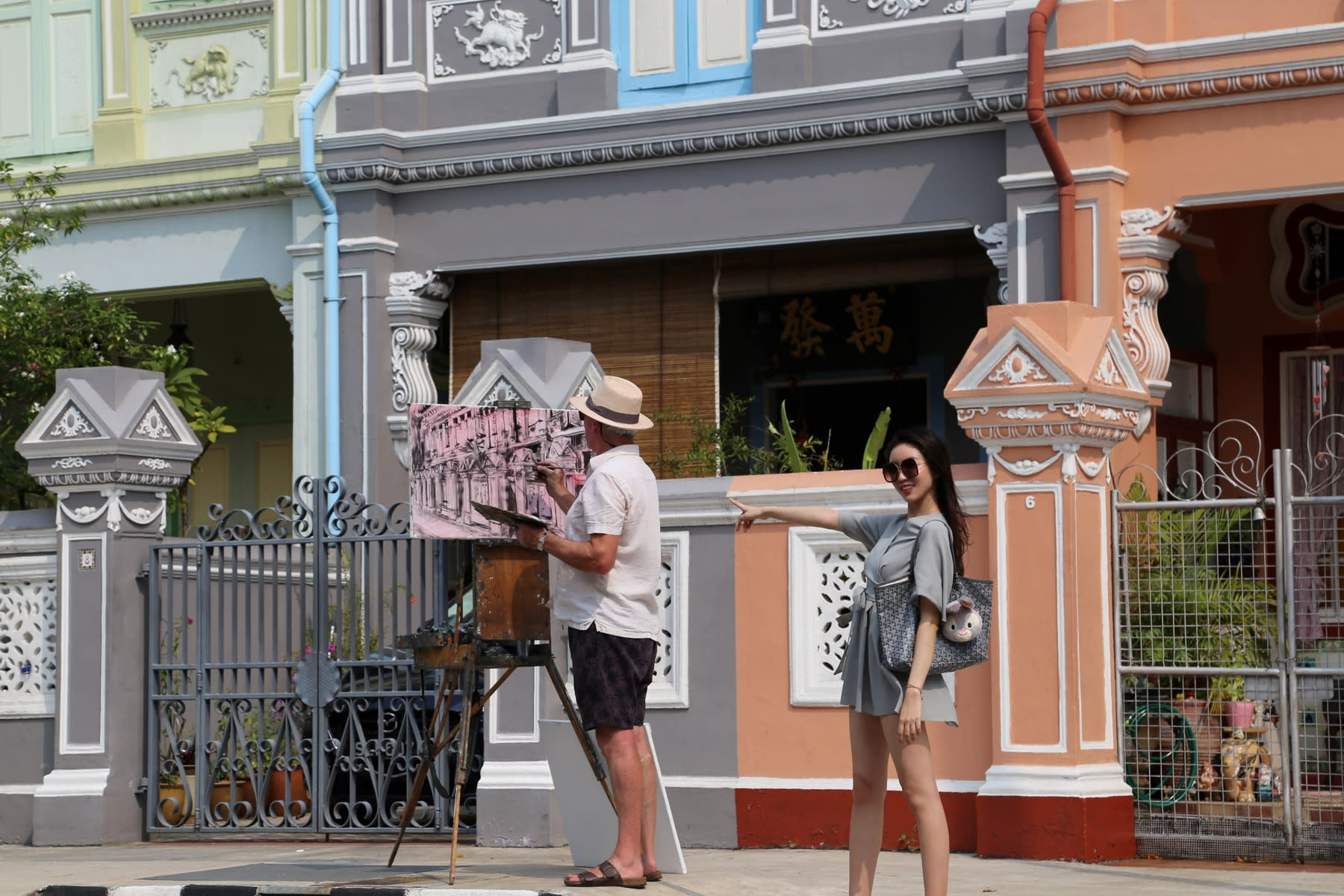 22 SEPTEMBER 2019 KOON SENG ROAD, SINGAPORE Colourful Peranakan Shophouses photo: Agata Byrne