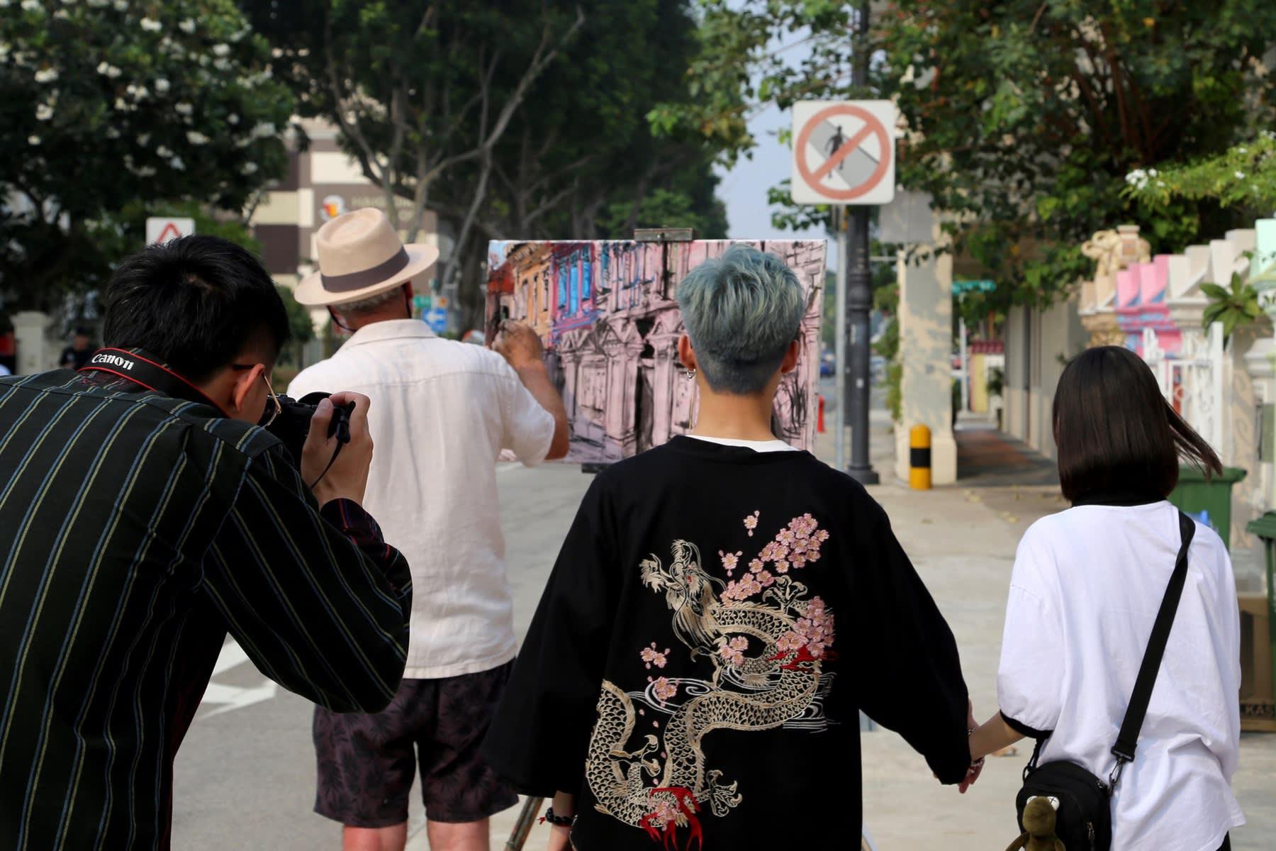 22 SEPTEMBER 2019 KOON SENG ROAD, SINGAPORE Colourful Peranakan Shophouses photo: Agata Byrne
