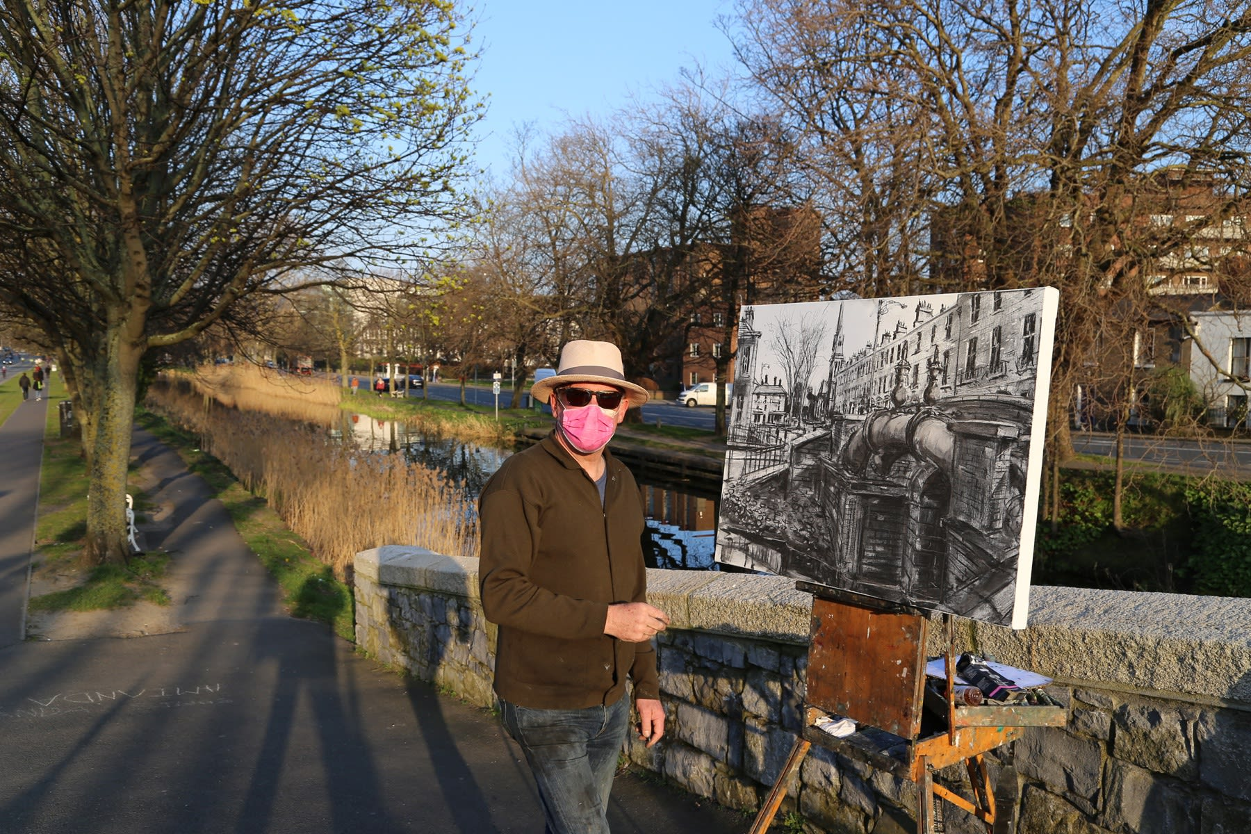 25 MARCH 2020 LEESON STREET BRIDGE, DUBLIN The Road Less Travelled photo: Agata Byrne
