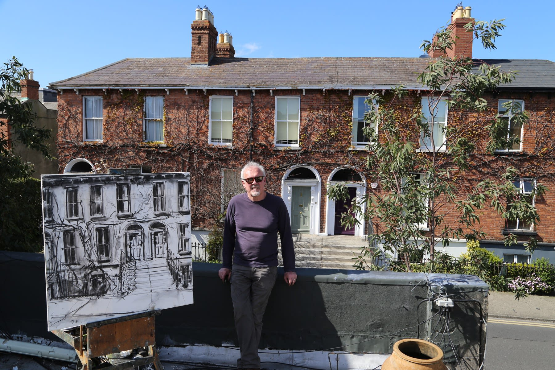 07 APRIL 2020 THE GERARD BYRNE STUDIO, RANELAGH, DUBLIN Gallery Rooftop In is the New Out photo: Agata Byrne