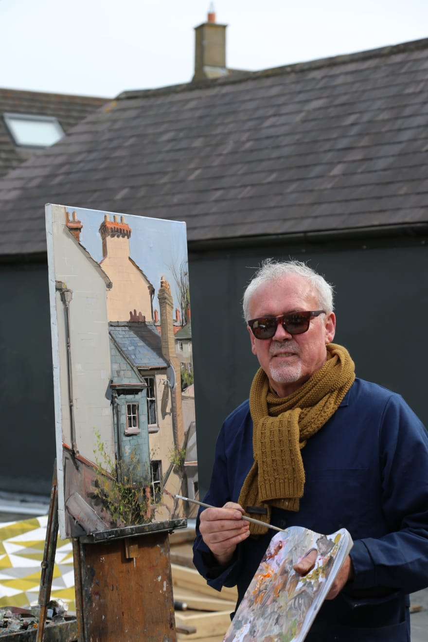 09 APRIL 2020 THE GERARD BYRNE STUDIO, RANELAGH, DUBLIN Gallery Rooftop We Are All in this Together photo: Agata Byrne