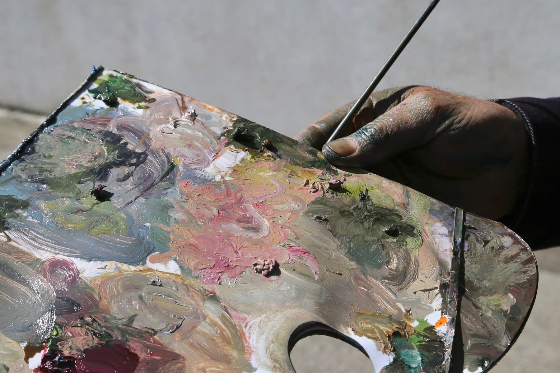 04 MAY 2020 MARLBOROUGH ROAD, RANELAGH, DUBLIN Sandford Church, Artist palette detail photo: Agata Byrne