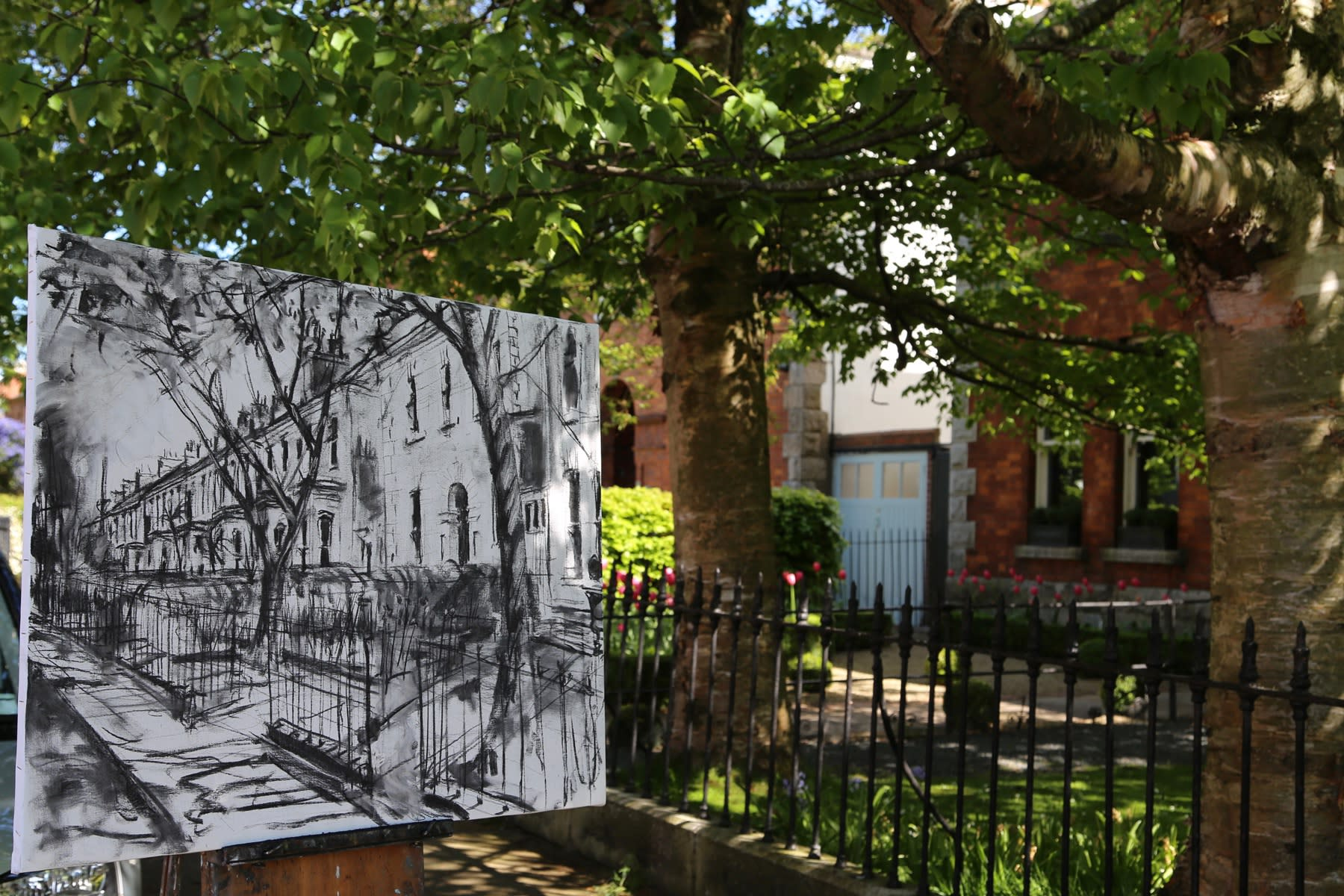 09 MAY 2020 ALBANY ROAD, RANELAGH, DUBLIN Beechwood Serenity, sketch photo: Agata Byrne