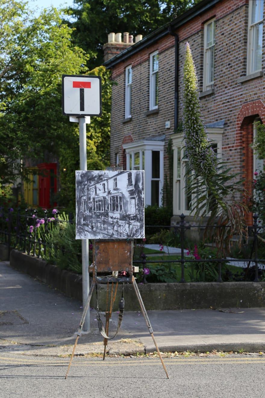 27 MAY 2020 MOYNE RD, RANELAGH, DUBLIN The Silent Sounds, sketch photo: Agata Byrne
