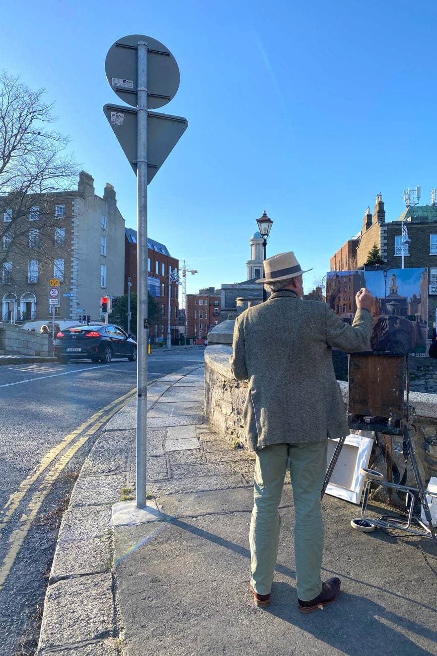 17 MARCH 2021 PERCY PLACE, DUBLIN Huband Bridge on St Patrick's Day photo: Agata Byrne