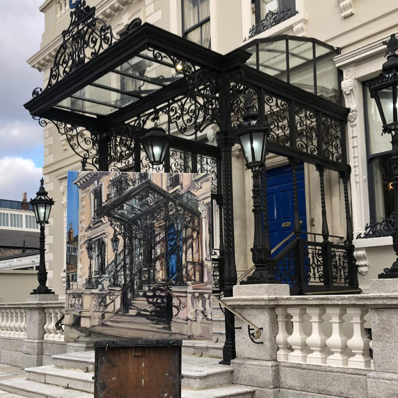 26 FEBRUARY 2021 THE MANSION HOUSE, DUBLIN Spring Shadows. Mansion House photo: Deirdre MacNally