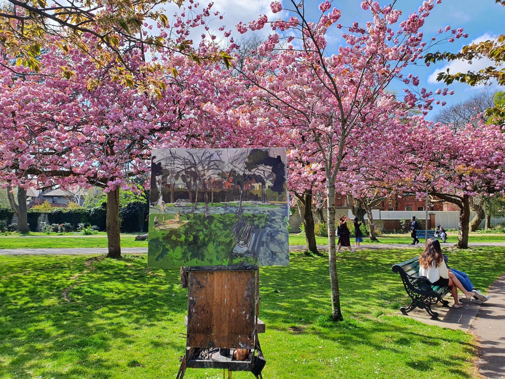 17 APRIL 2021 HERBERT PARK, DUBLIN Spring is Here! Herbert Park photo: Zahra Esmaeili