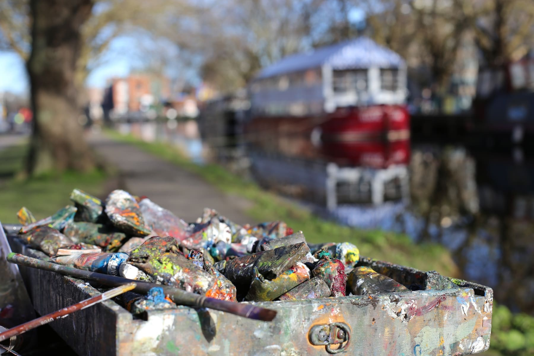 28 FEBRUARY 2021 GRAND CANAL, MESPIL ROAD, DUBLIN Grand Canal in Spring photo: Agata Byrne