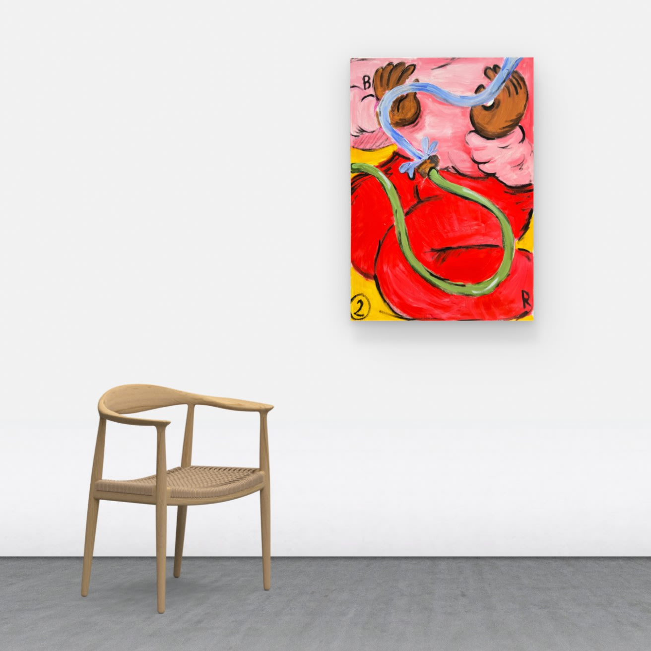 HOW WILL THE WORK LOOK LIKE IN MY HOME? If you click the view on a wall button, you will be able to create a mock-up of how the work will look in a space. Each image is scaled according to the work's size, allowing for perspective on how it will look once installed.