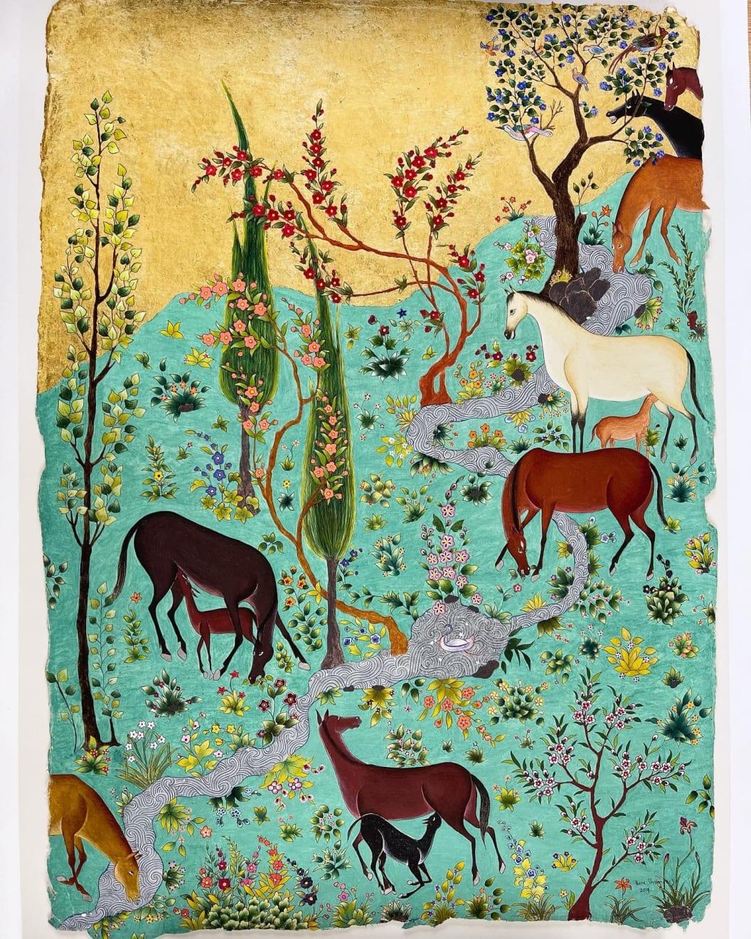 Hana Shahnavaz, A Meadow for Shabiz , 2020