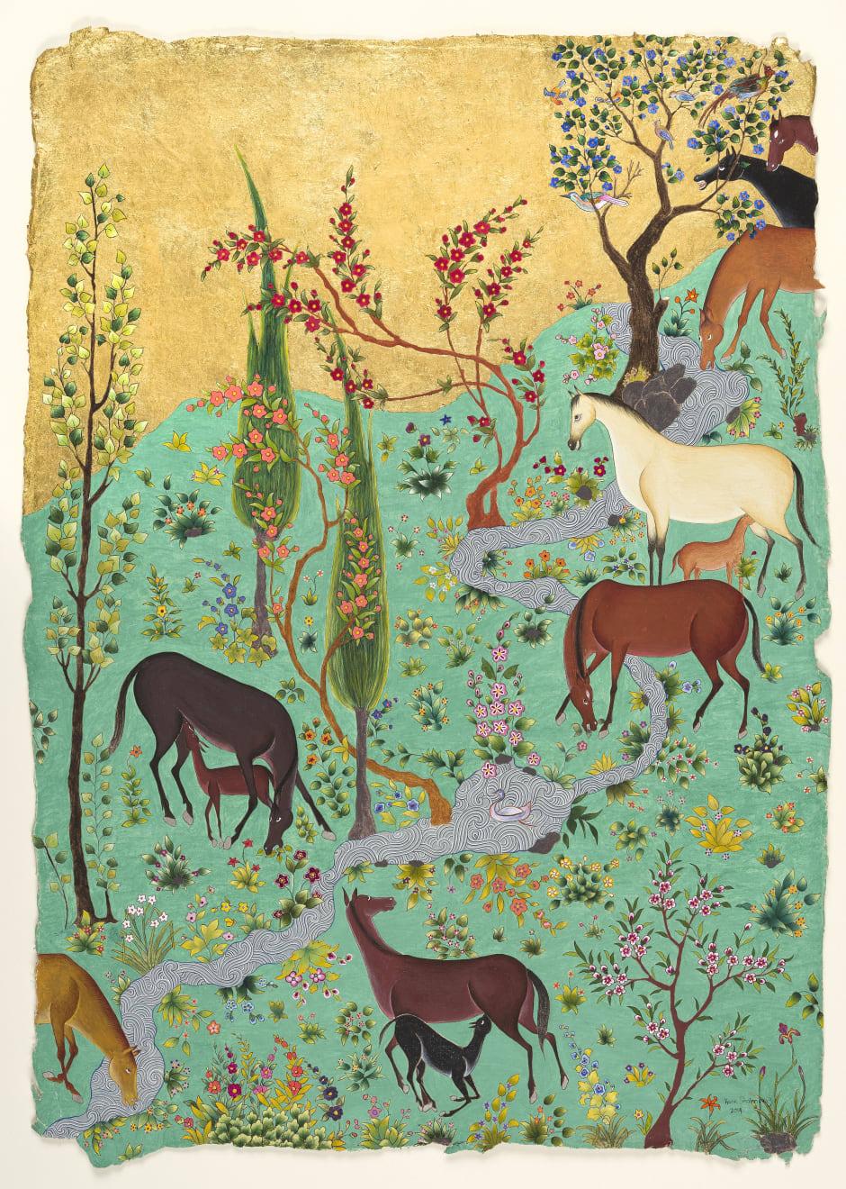 Hana Shahnavaz, A Meadow for Shabdiz , 2020