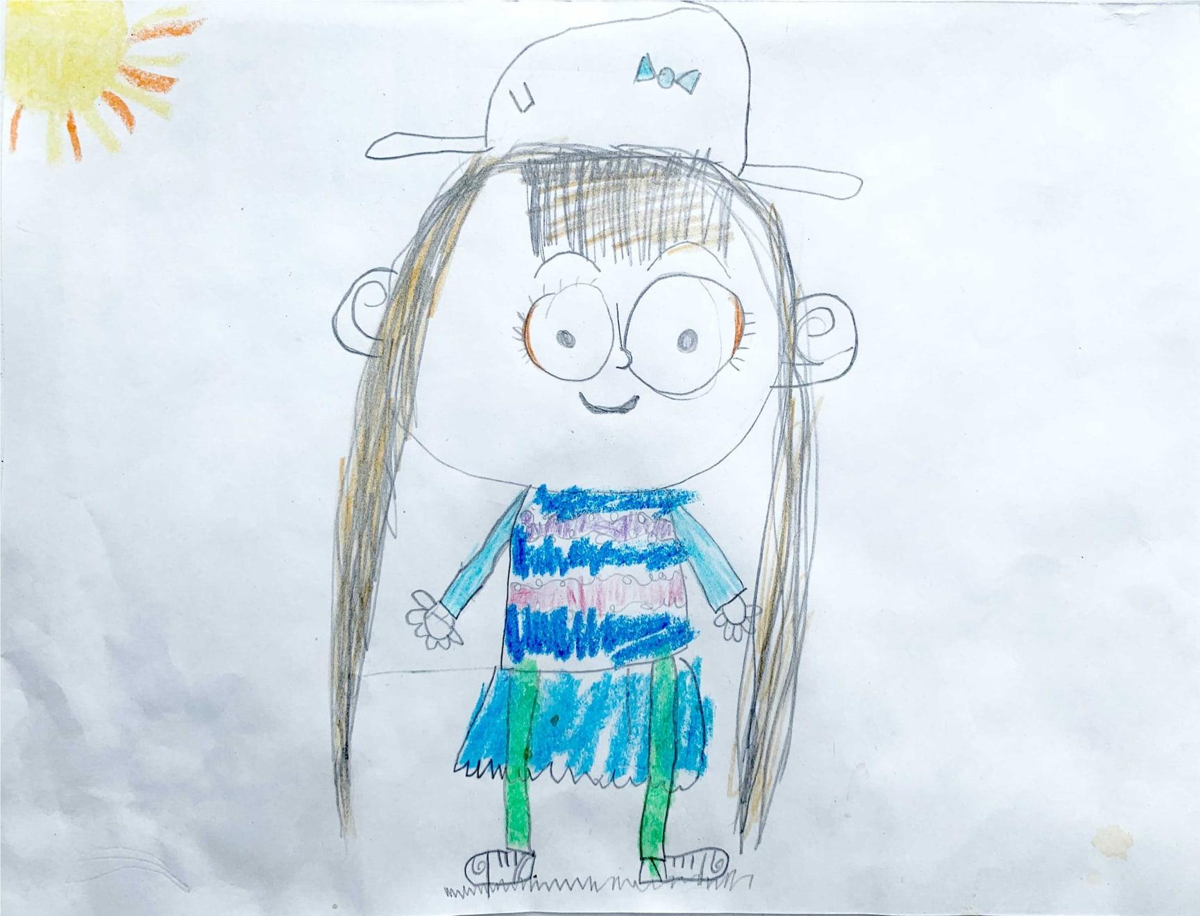 Frankie Hilyer, Age 6, Self Portrait