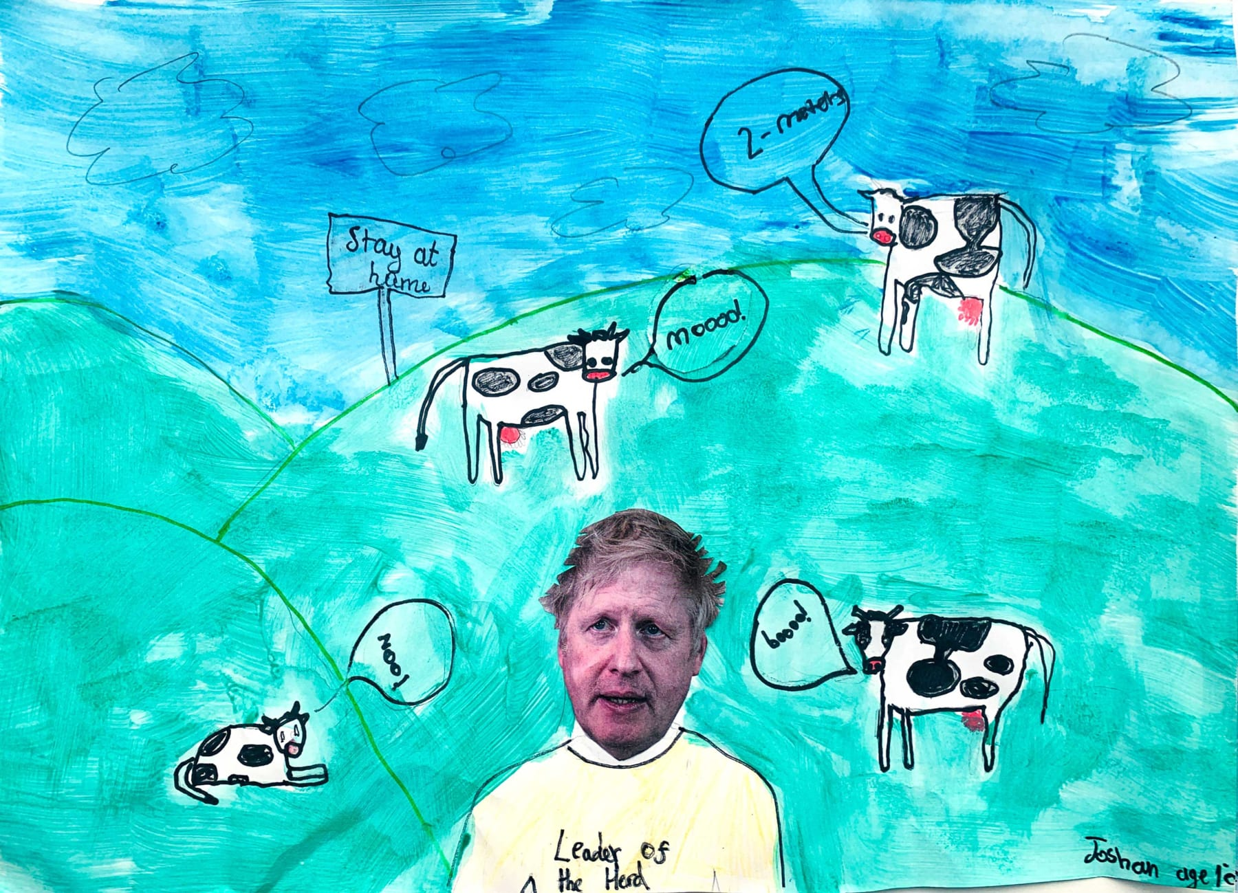 Joshan Di Paolo, Age 10, Leader Of The Herd