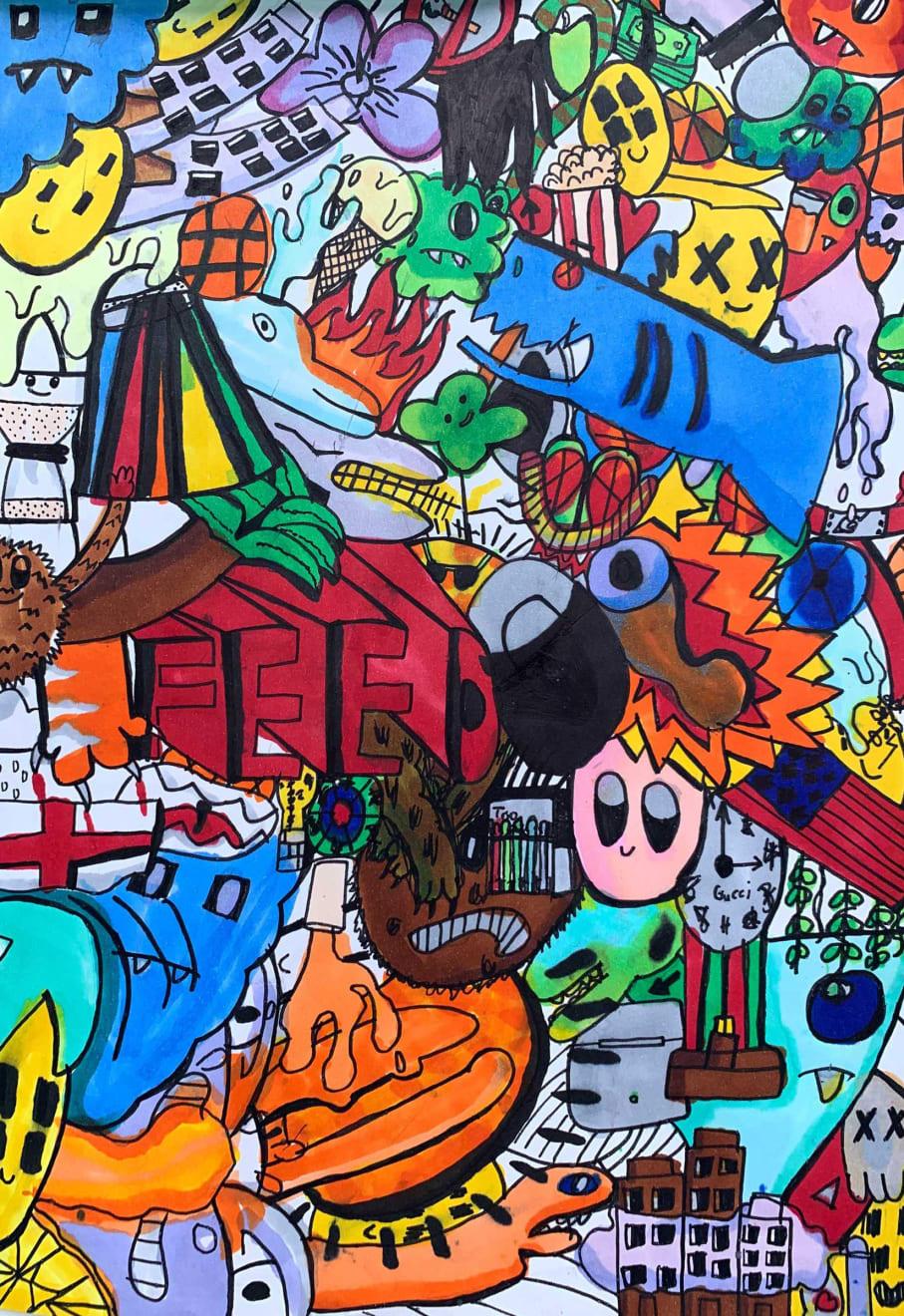 Oscar Orsler, Age, 10, Doodles