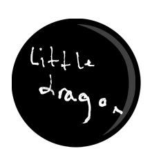 Little Dragon Script Badge Black&White