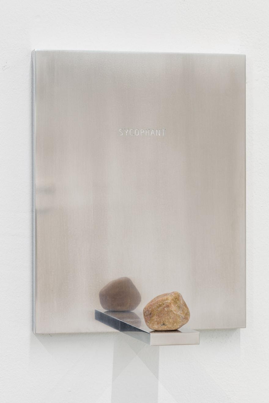 Paco Koenig Wall Piece [Sycophant], 2021 Aluminium and stone 36 x 28 x 18 cm 14 1/8 x 11 1/8 x 7 1/8 in