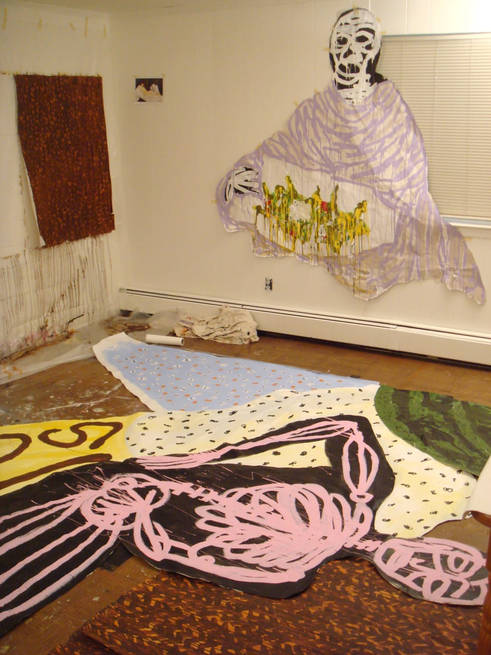 Olympia In progress at Westchester studio. Assembling the composition. 2007