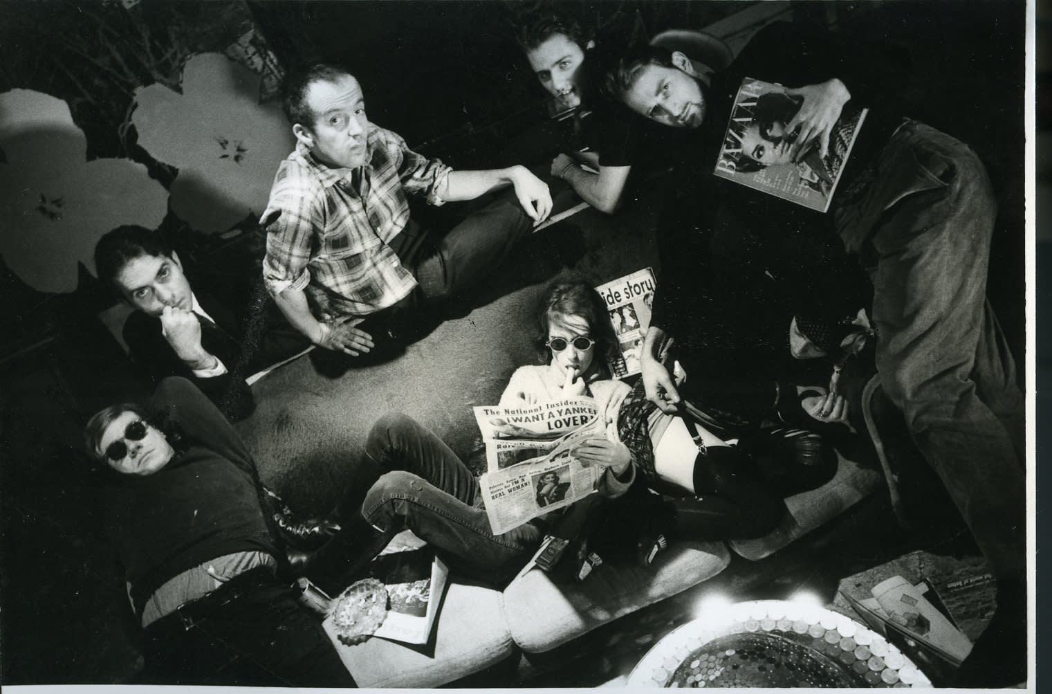Dennis Hopper Andy Warhol and Members of The Factory (Gregory Markopoulos, Taylor Mead, Gerard Malanga, Jack Smith), 1963