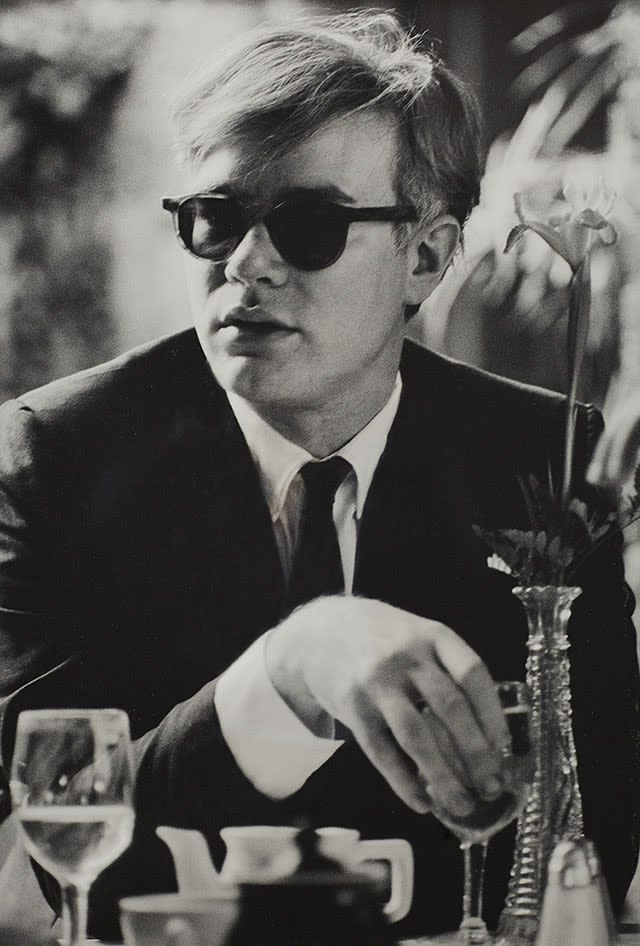 Dennis Hopper Andy Warhol (at table), 1963