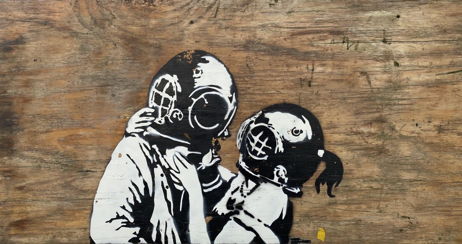 Think Tank original artwork on wooden board.