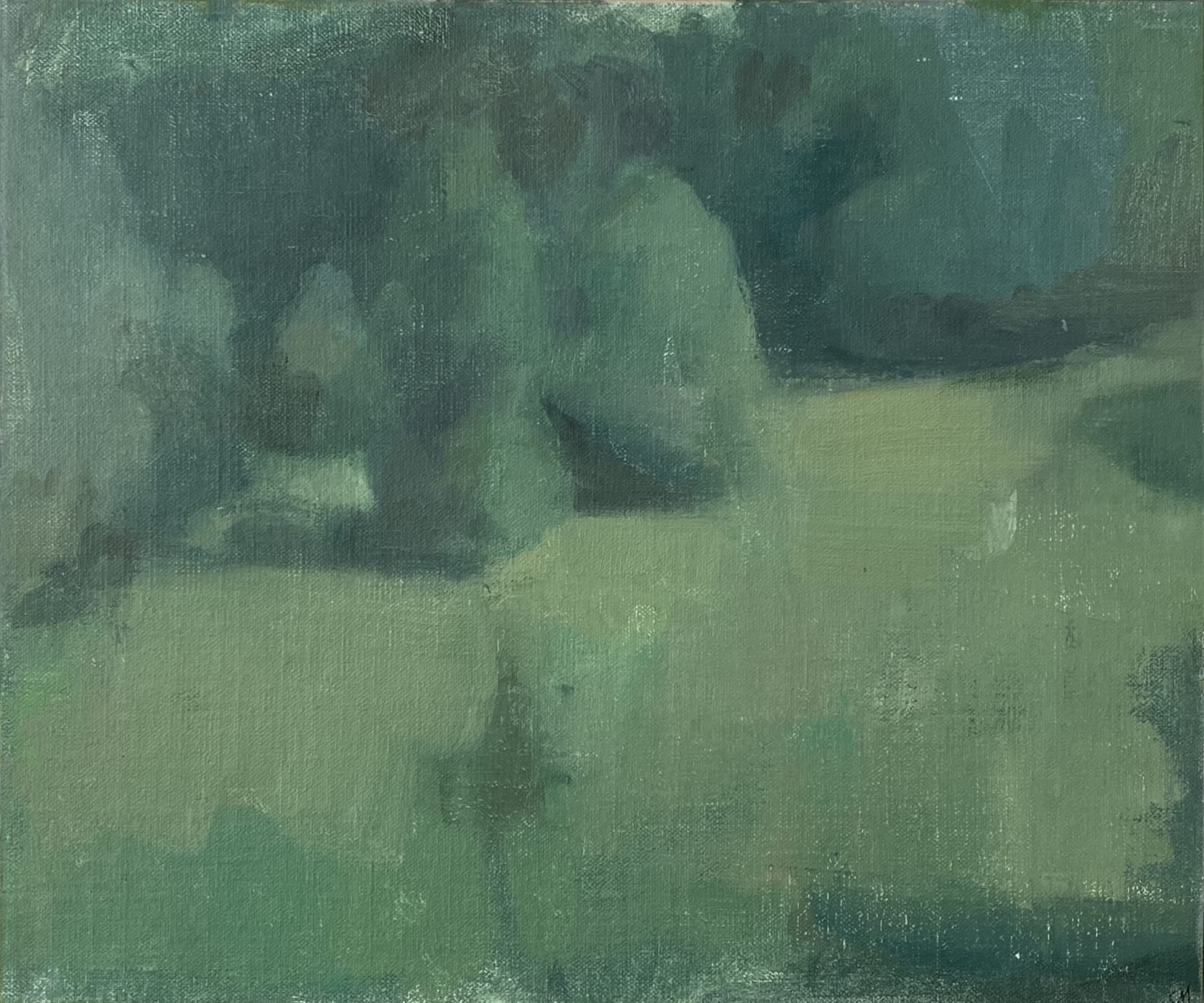 Conceal, Oil on linen on board, 28 x 33cm, £800, Clare Haward