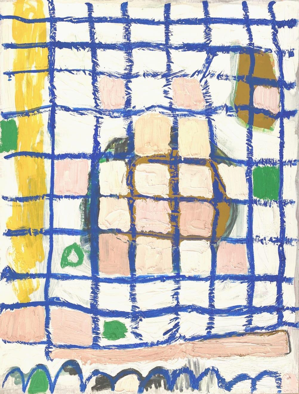 Net, Oil + oil stick on board, 80 x 61cm, £2000, Lucy Giles
