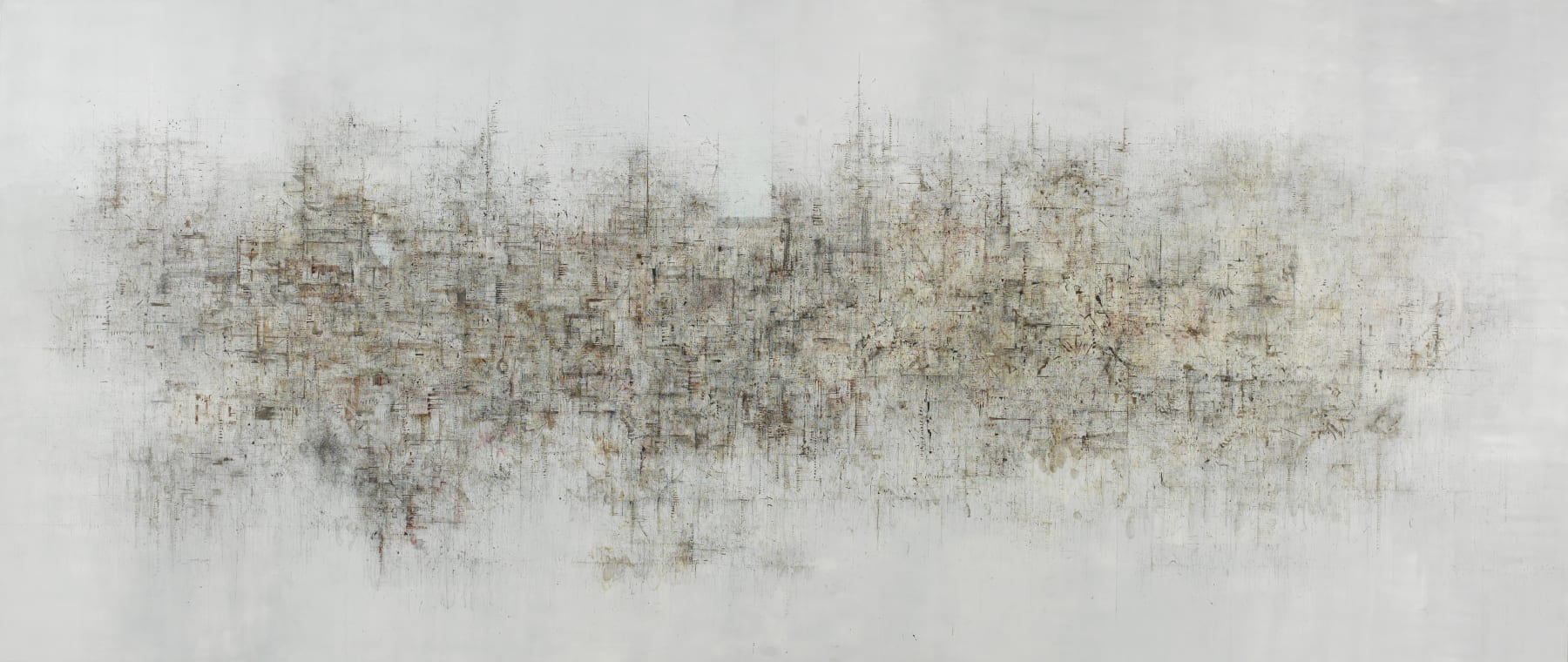 untitled, 2006-2009, oil, ink on canvas, 425x178cm