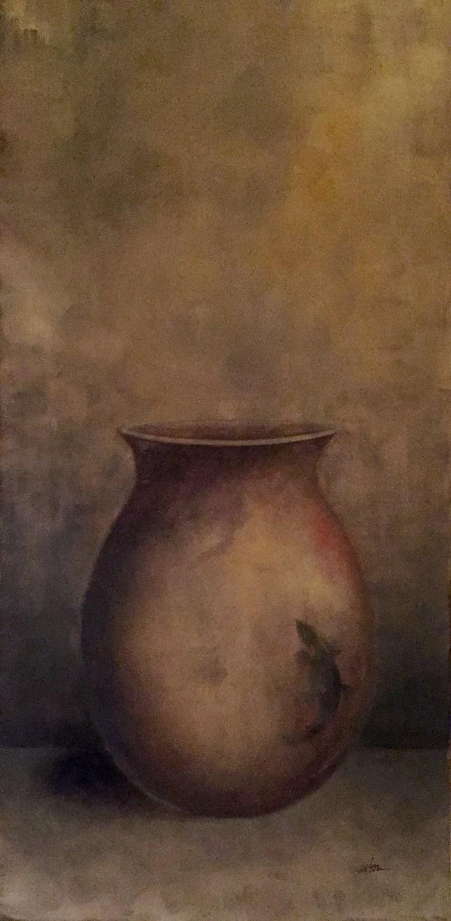Lizard Pot / Patricia Saxton