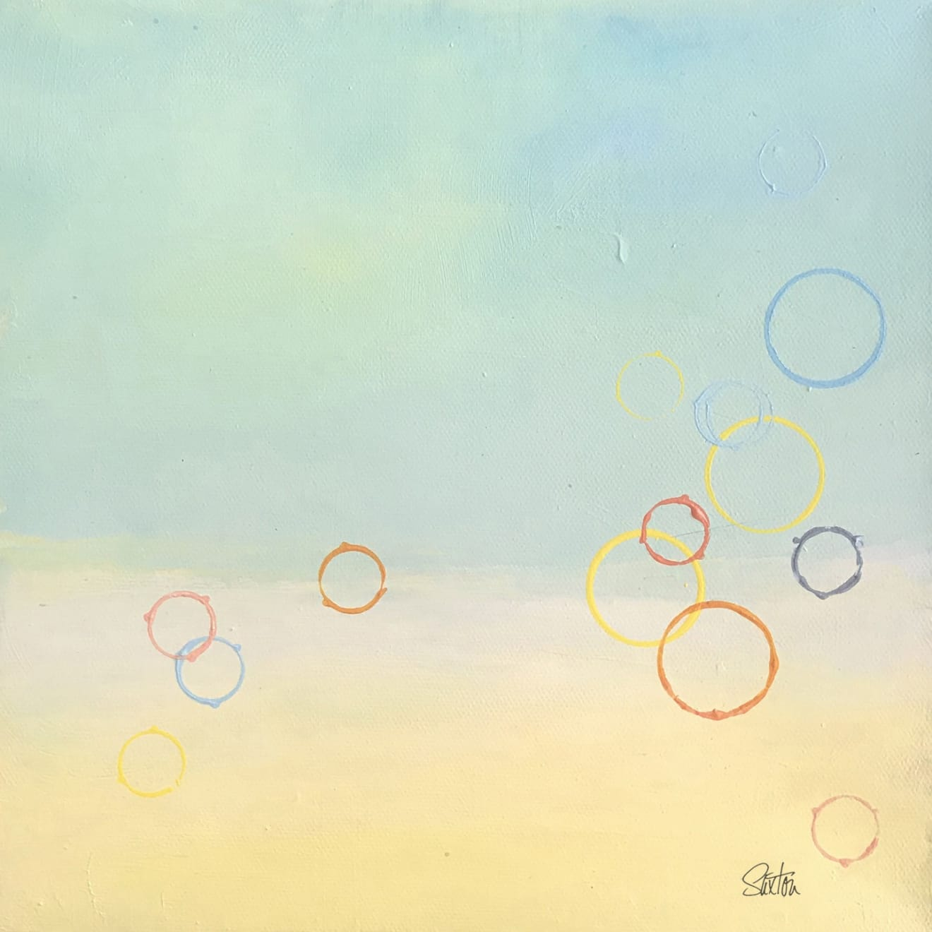 Moon Series / Moon in Aquarius / Patricia Saxton