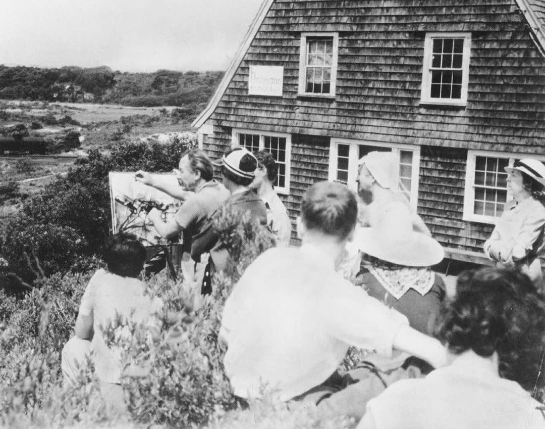 Hans Hofmann teaching in Provincetown, Massachusetts.