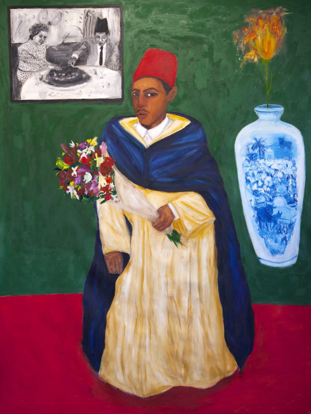 Anuar Khalifi, Palimpsest, 2021, Acrylic on canvas, 246 x 192cm