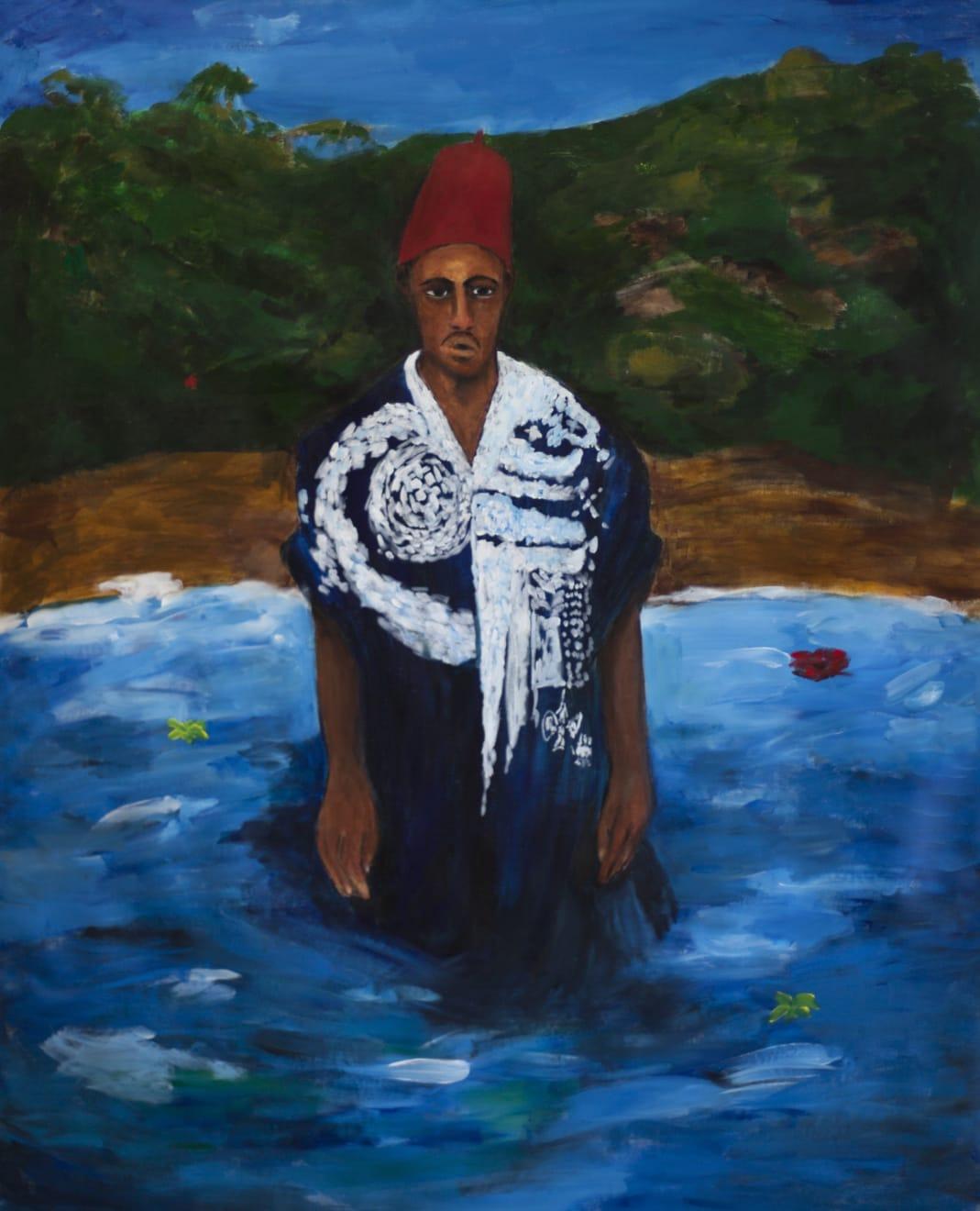 Anuar Khalifi, MAWQIF, 2020, Acrylic on canvas, 145 x 114cm