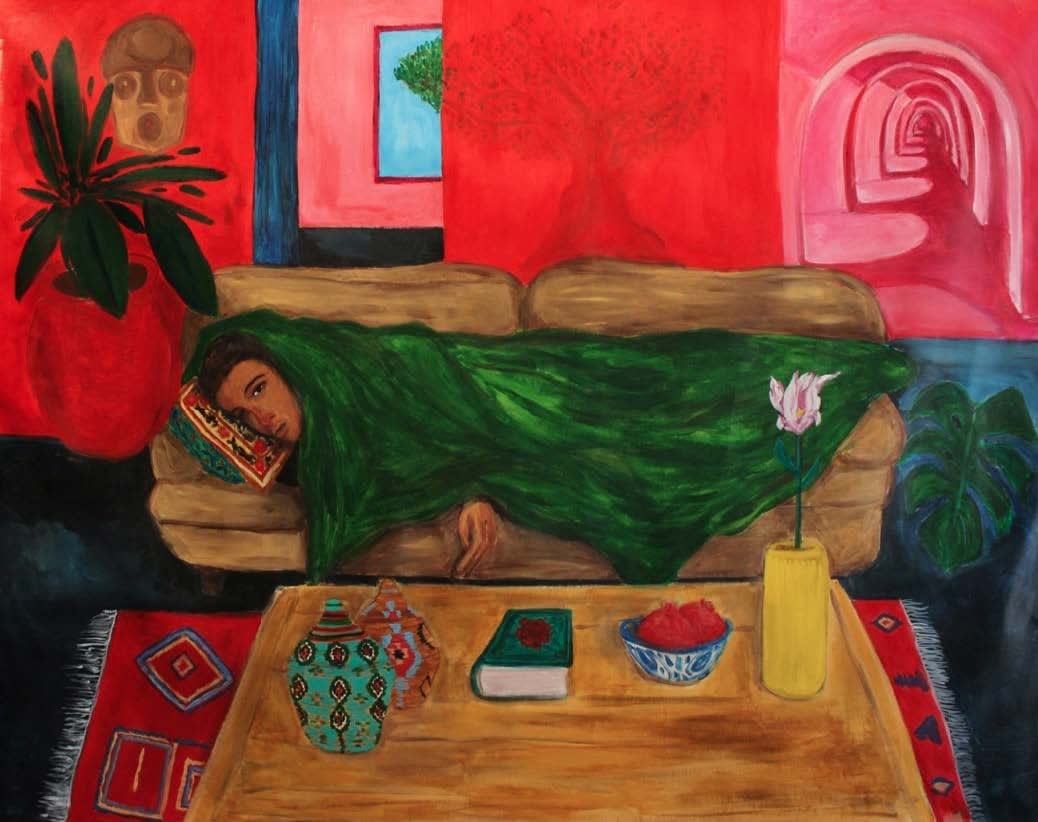 Anuar Khalifi, A MAN CHEST CAN ONLY HOLD ONE, 2020, Acrylic on canvas, 184 x 152cm EUR 12,000 (Excluding VAT)