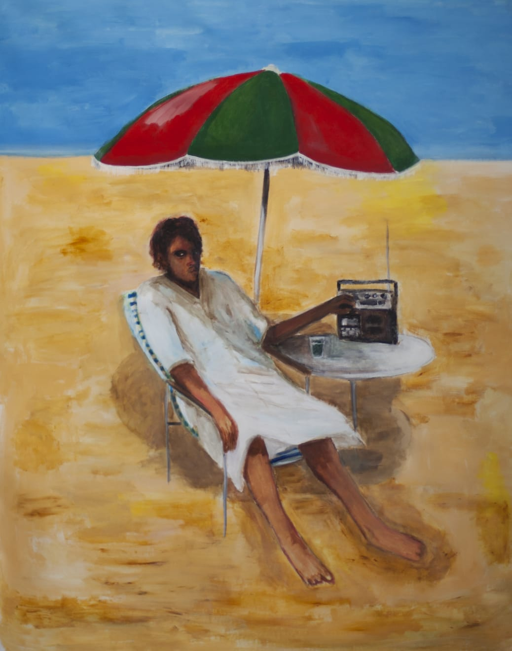 Anuar Khalifi, Ghurba, 2020, Acrylic on canvas, 112 x 137cm EUR 8,000 (Excluding VAT)