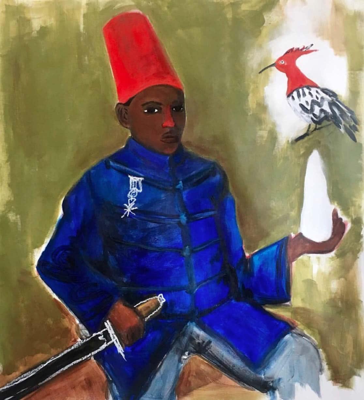 Anuar Khalifi, MOCKINGBIRD, 2018, Acrylic on canvas, 85 x 75cm EUR 5,000 (Excluding VAT)