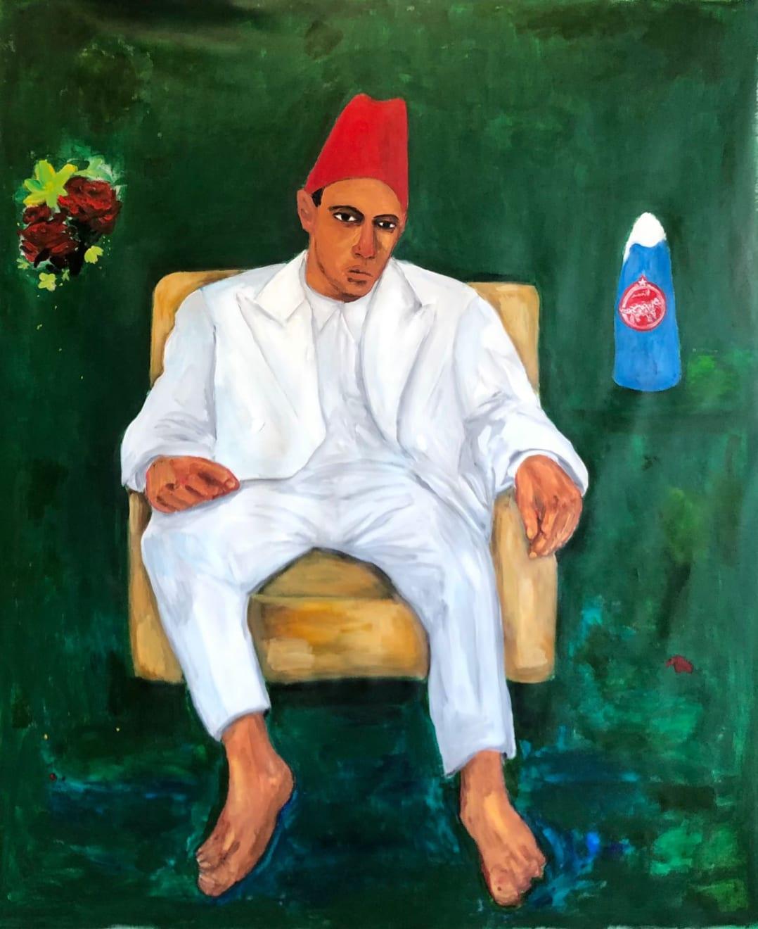 Anuar Khalifi, Na3na3, 2020, Acrylic on canvas, 193 x 158.5cm EUR 15,000 (Excluding VAT)
