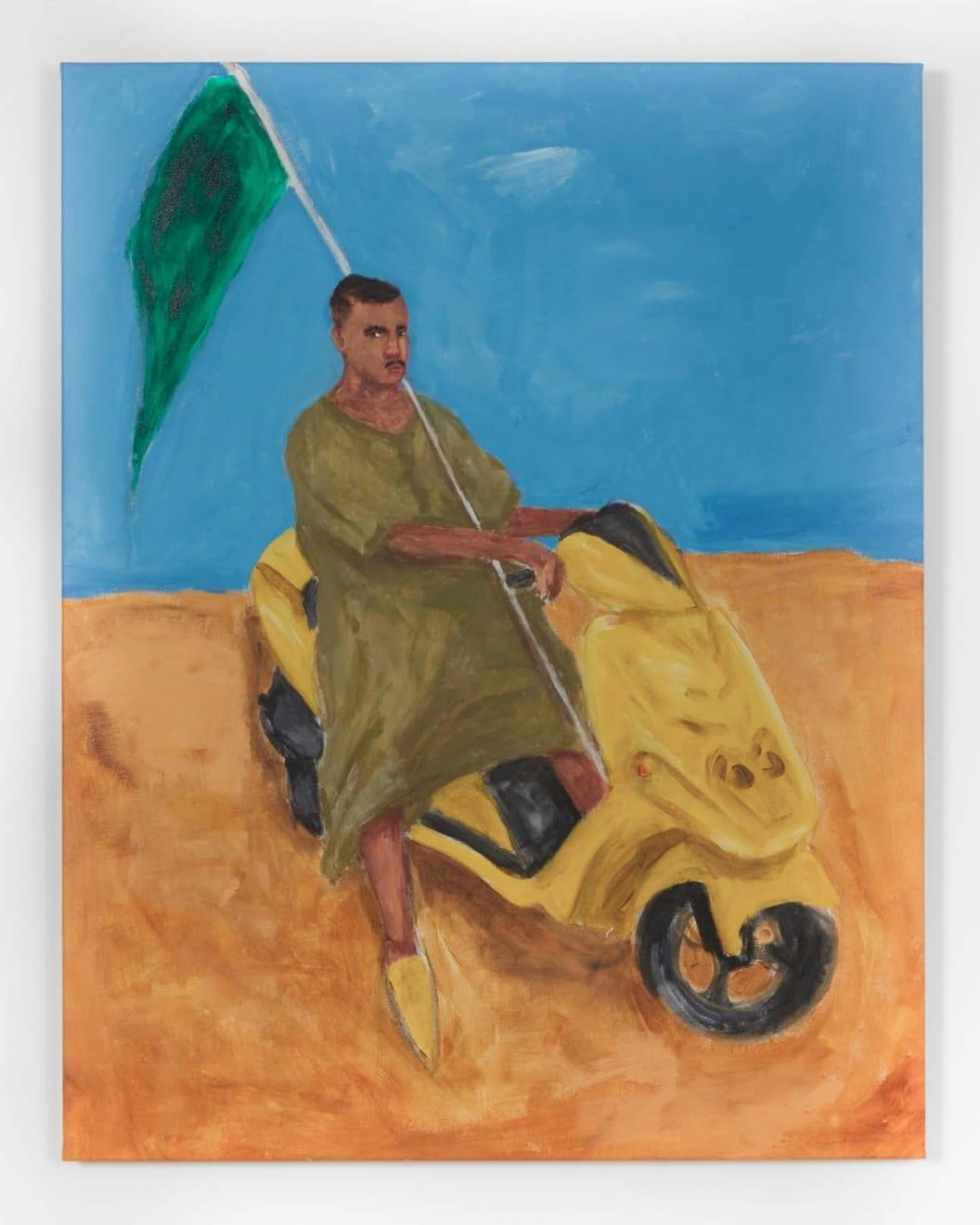 Anuar Khalifi, UNTITLED (SCOOTER), 2020, Acrylic on canvas, 98 x 77cm EUR 5,000 (Excluding VAT)