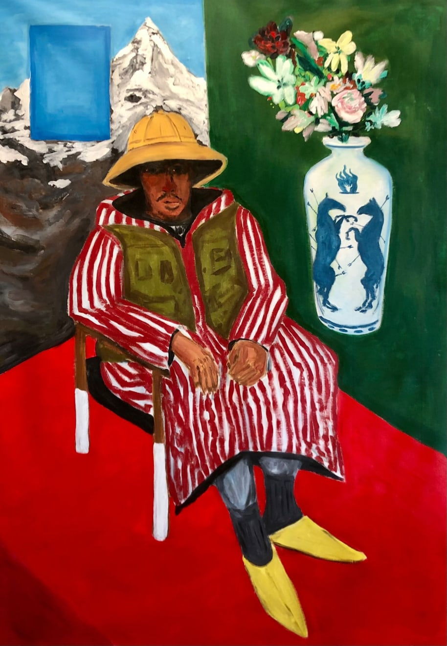 Anuar Khalifi, Safi Safari, 2021, Acrylic on canvas, 119.5 x 170cm
