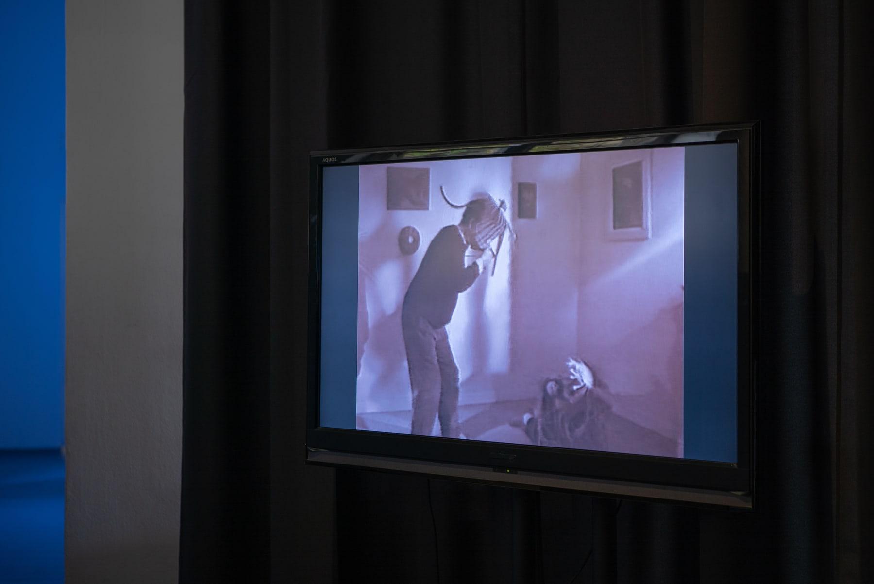 Mončys, Henrikas Gulbinas' film on the life and work of Antanas Montčys Installation view fotographed by Laurynas Skeisgiela