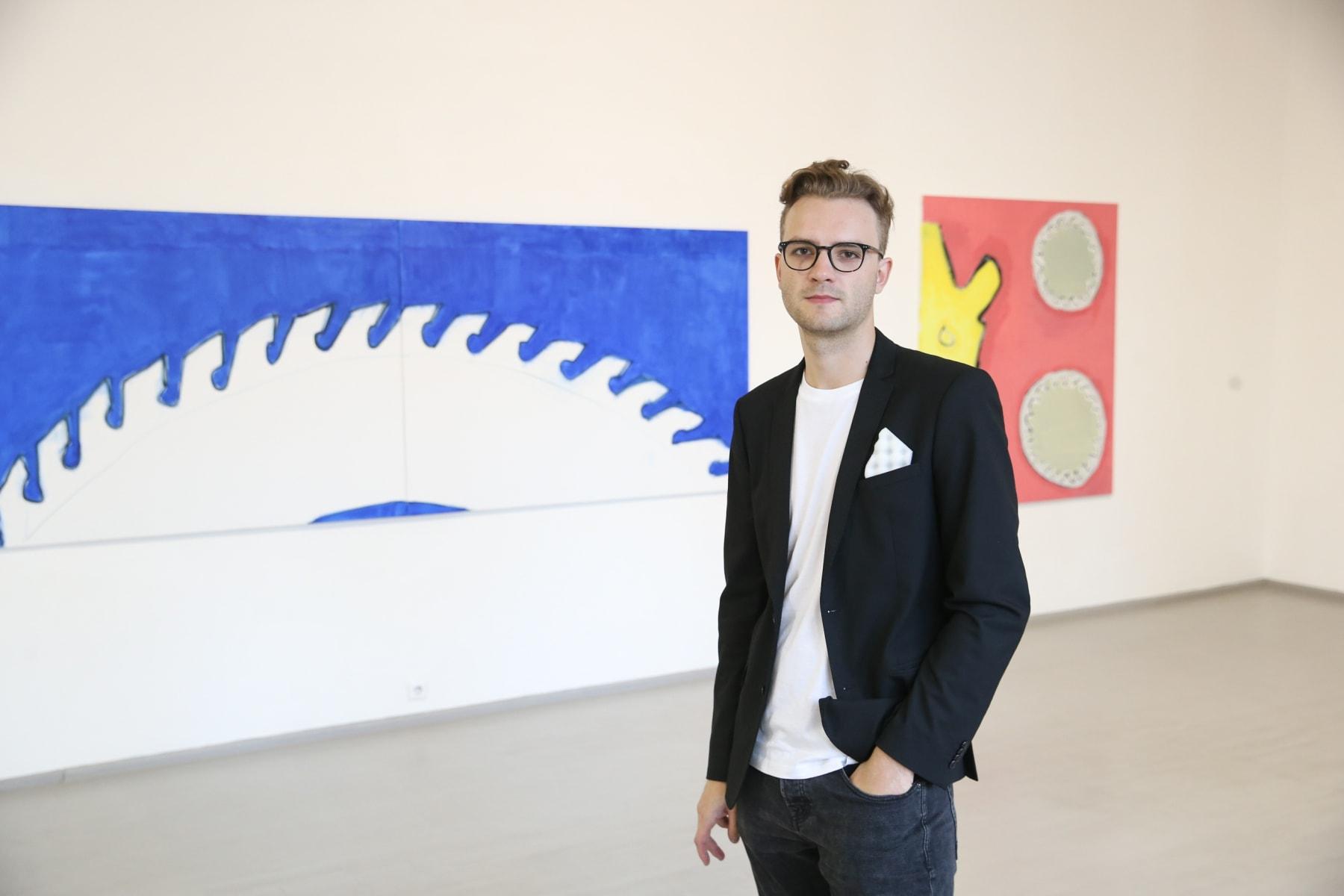 Galerija Vartai, 2019 Dominykas Sidorovas at the opeining of his solo exhibition
