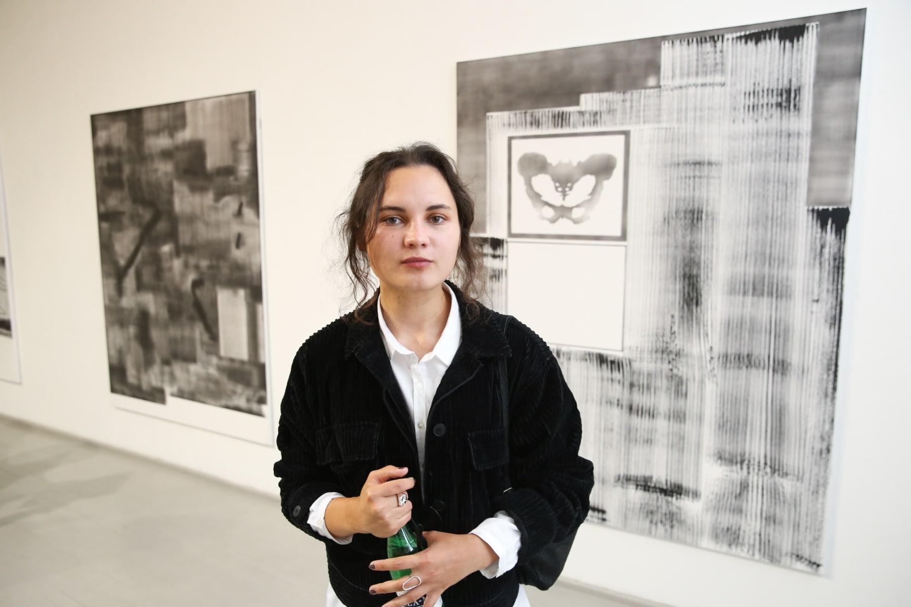 Galerija Vartai, Vilnius 2019 Gabrielė Adomaitytė at the opening of her solo exhibition