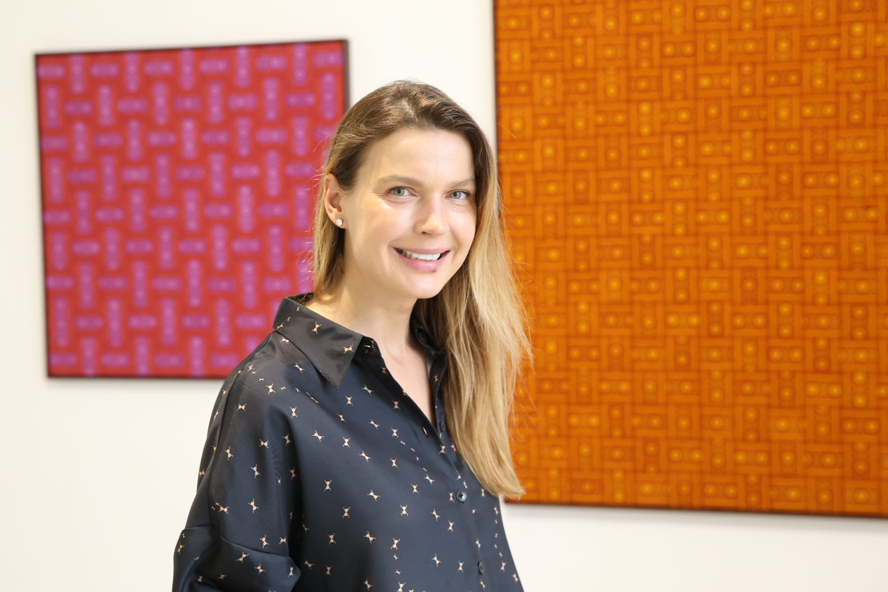 Galerija Vartai, 2019 Indrė Šerpytytė at the opening of her solo exhibition