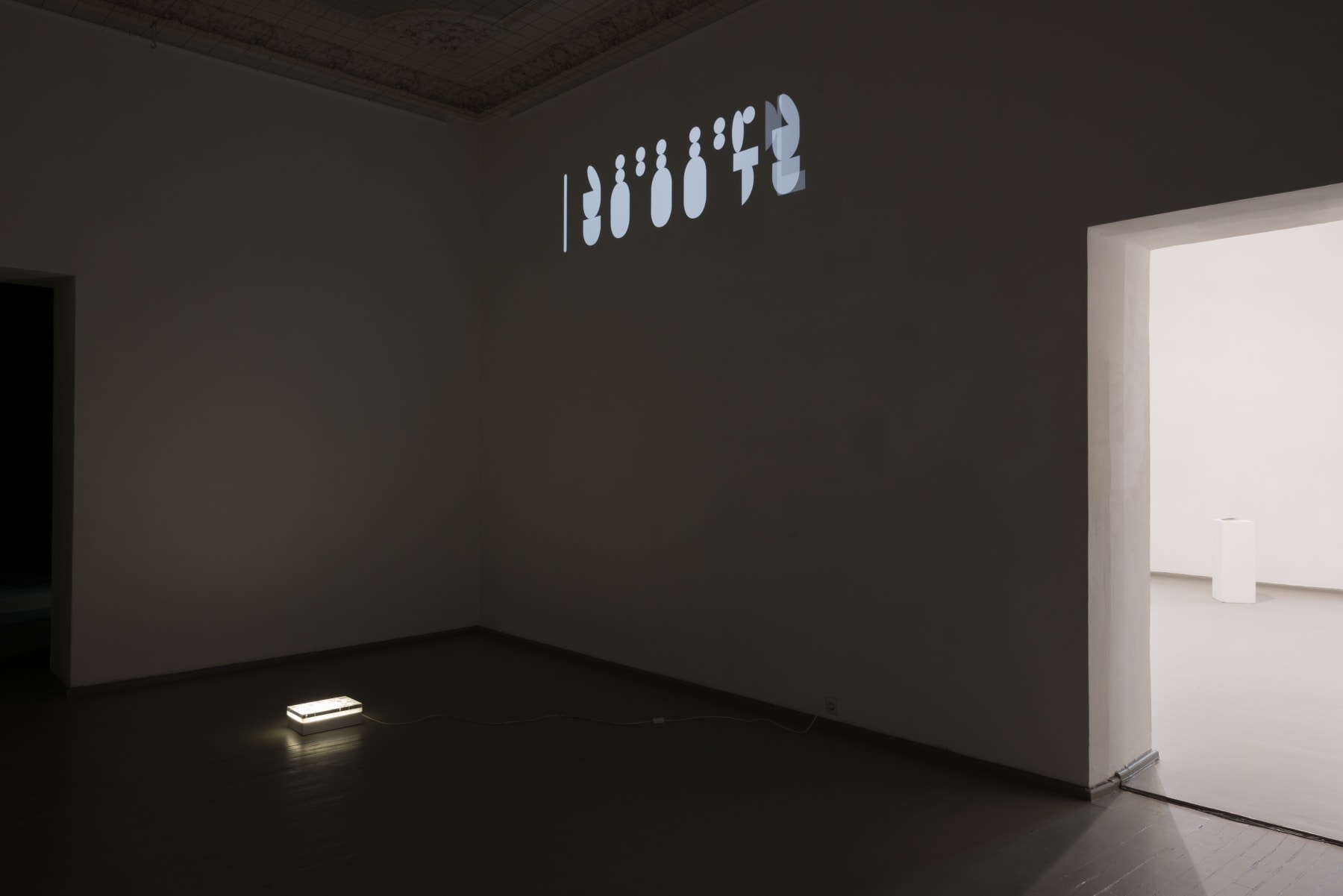 Galerija Vartai, 2016 Installation shot with Robertas Narkus's artwork from group exhibition