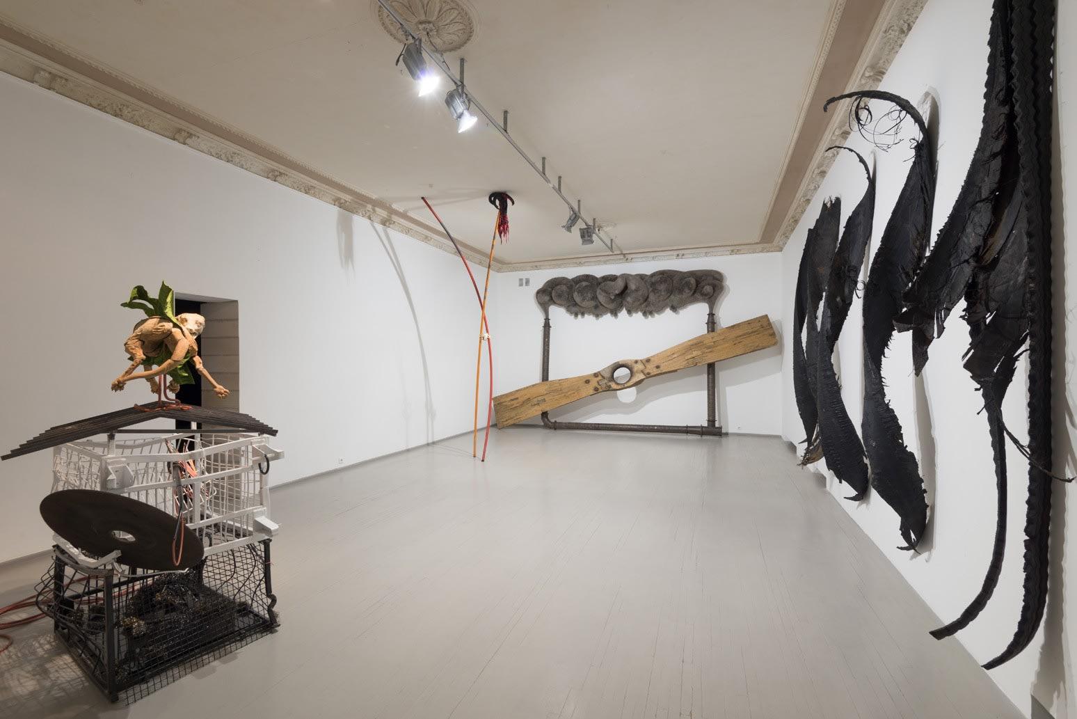 Galerija Vartai, 2018 Installation shot from Vytautas Viržbickas's solo exhibition