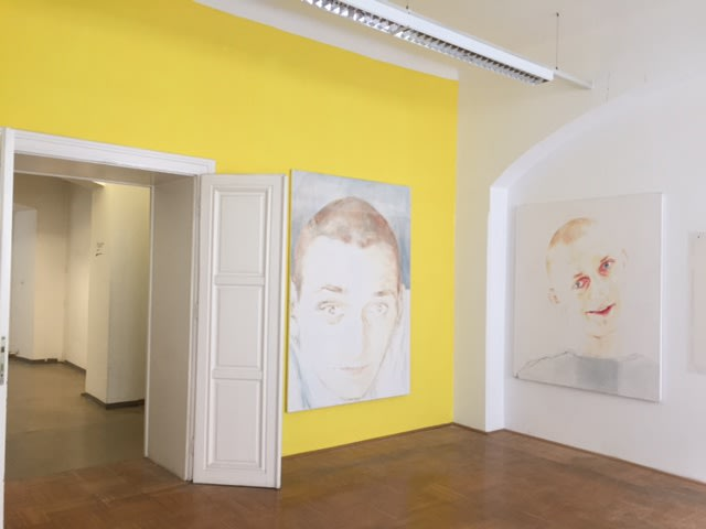 Parallel, Vienna, 2016 Installation shot from of the exposition with paintings by Donata Minderytė.